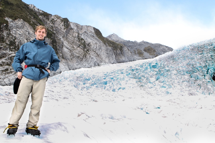 Hiking the Franz Josef Glacier on the south island of New Zealand